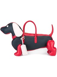 Thom Browne Dog Tote Bag Red