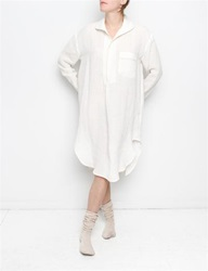 Creatures Of Comfort Nightgown Washed Linen White