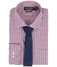 Lauren Ralph Lauren Classic Warren Collar With Pocket Dress Shirt White Red Sky Navy Men's Long Sleeve Button Up