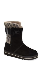 Women's Sorel 'Newbie' Chevron Water Resistant Boot Black