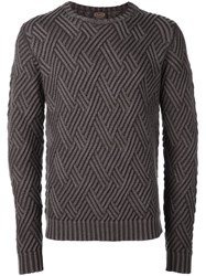 Tod's Diamond Knit Jumper Brown