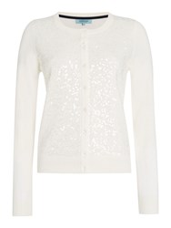 Dickins And Jones Sequin Front Cardigan Ivory