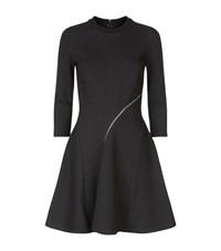 Mcq By Alexander Mcqueen Mcq Alexander Mcqueen Zip Detail Flare Sweater Dress Female Dark Grey
