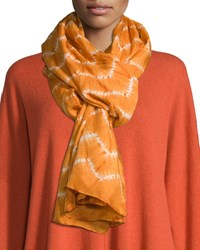 Eskandar Hand Dyed Shibori Scarf Orange