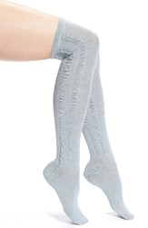 Women's Arthur George By R. Kardashian 'Side Scrunch' Over The Knee Socks Grey Grey Heather