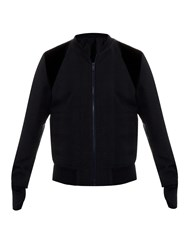 Alexander Mcqueen Check Jacquard Crepe Bomber Jacket