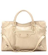 Balenciaga Classic City Leather Tote Beige