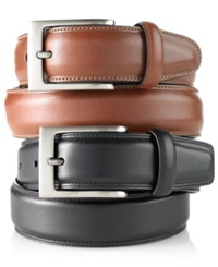 Perry Ellis Big And Tall Full Grain Leather Belt Brown