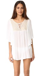 L Space Zion Cover Up Tunic White