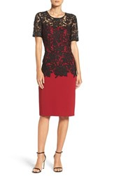 Sachin Babi Women's And Noir 'Ruby' Lace And Crepe Sheath Dress