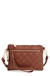 Emperia Faux Leather Convertible Wristlet Brown