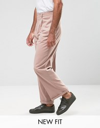 Asos Wide Leg Smart Trousers Pink Mahogony Rose