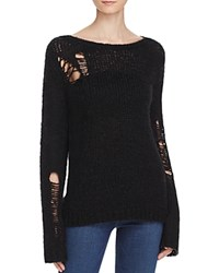 Pam And Gela Distressed Sweater Black