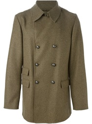 Ermanno Scervino Classic Double Breasted Coat Green