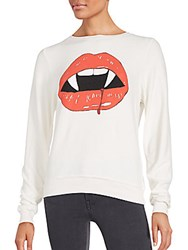 Wildfox Couture Vampire Lips Boatneck Tee Vintage