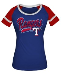 5Th And Ocean Women's Texas Rangers Homerun T Shirt Royal Blue
