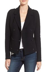 James Perse Women's Double Breasted Blazer Black