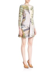 Stella Mccartney Long Sleeve Landscape Dress Cream