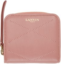Lanvin Pink Leather Compact Wallet