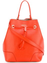 Furla 'Stacy' Bucket Tote Yellow And Orange