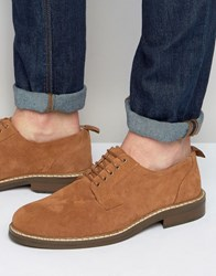 Asos Lace Up Shoes Tan Suede Ginger