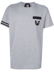N 21 Nao21 Chest Patch T Shirt Grey