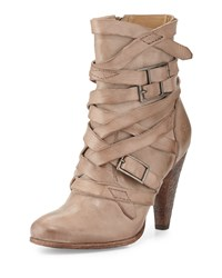 Frye Mikaela Strappy Leather Boot Gray Women's Grey