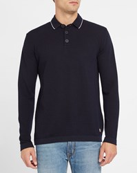 Armor Lux Navy Heritage Wool Polo Neck Sweater Blue