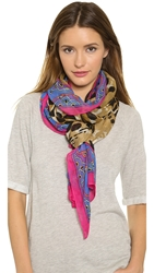 Theodora And Callum Corcovado Scarf Neutral Multi