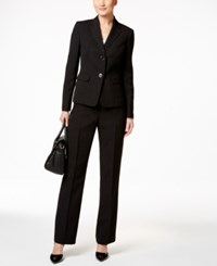 Le Suit Two Button Pantsuit Black