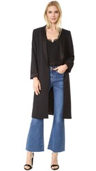 Alice Olivia Kylie Long Shawl Collar Jacket Black
