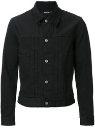 Christian Dada Buttoned Denim Jacket Black