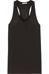 Alexander Wang T By Classic Jersey Racer Back Tank Black