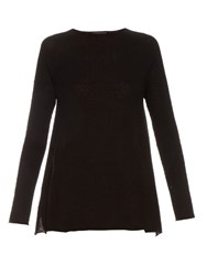 The Row Banny Cashmere And Silk Blend Sweater Black