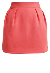 Morgan Jadis Mini Skirt Orange Fluo