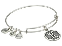 Alex And Ani Initial K Charm Bangle Rafaelian Silver Finish Bracelet