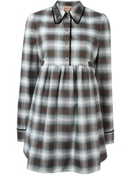 N 21 No21 Checked Shirt Dress White