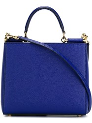Dolce And Gabbana 'Sicily' Shopping Tote Blue