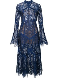 Jonathan Simkhai Embroidered Dress Blue