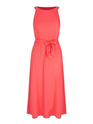Yumi Tie Waist Maxi Dress Coral