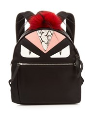 Fendi Bag Bugs Nylon And Fur Backpack Black Multi