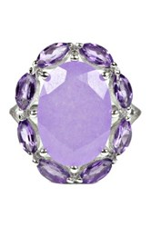 Savvy Cie Oval Lavender And Amethyst Ring Metallic