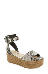 Women's Via Spiga 'Nemy' Platform Sandal Black White