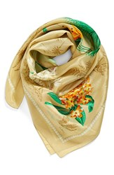 Women's Echo 'Vintage Lily' Print Silk Square Scarf