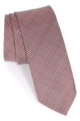 1901 'Seagar' Plaid Silk Tie Red