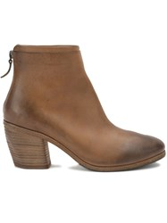 Marsell Rear Zip Ankle Boots Brown