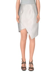 Cameo Skirts Knee Length Skirts Women White