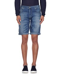 X Cape Denim Denim Bermudas Men Blue