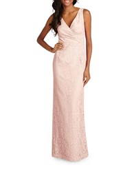 Donna Morgan Sleeveless Sheath Gown Pearl Pink