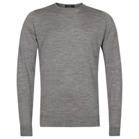 John Smedley Marcus Merino Wool Crew Neck Jumper Silver